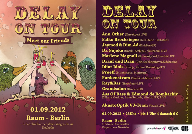 Delay on Tour - Meet our Friends -  Flyer